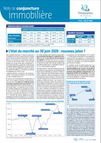 Conjoncture immobilière Juillet 2020